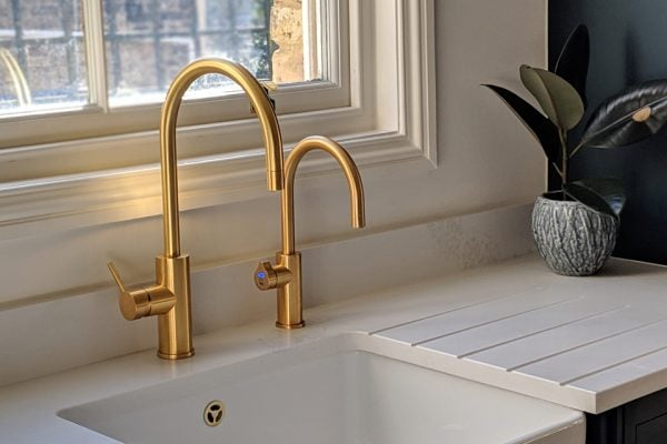 Fathers of Daughters Brushed Gold Faucet